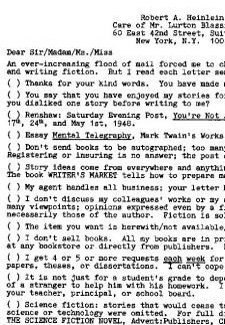 Cartas de fans Heinlein