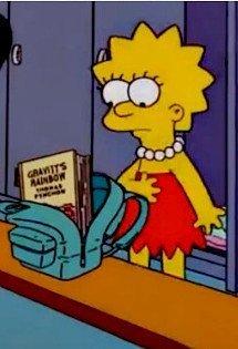 Lisa Simpson y la lectura