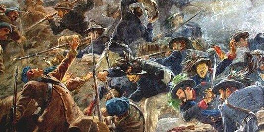 Ilustración sobre la Guerra de Crimea en Rusia.