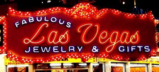 Cartel de neón de un establecimiento de Las Vegas, Nevada