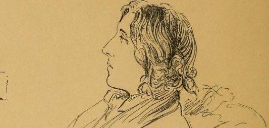 Retrato de un joven Oscar Wilde en bata y recostado