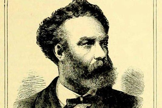 Retrato de Julio Verne sacado de uno de sus libros publicados a finales del XIX