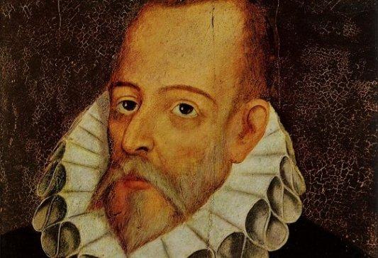 Retrato de Cervantes realizado por Juan de J�uregui