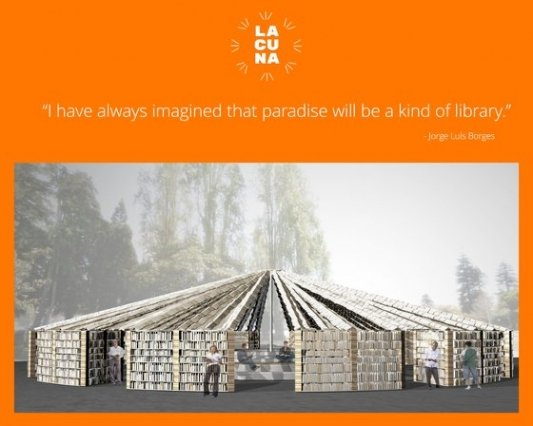 Concepto artístico del edificio principal del Lacuna Project