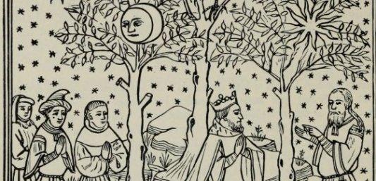 Escena interior de El libro de las maravillas del mundo, de Marco Polo, en su edición de 1903.