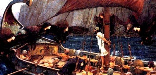 Escena del viaje de la Odisea.