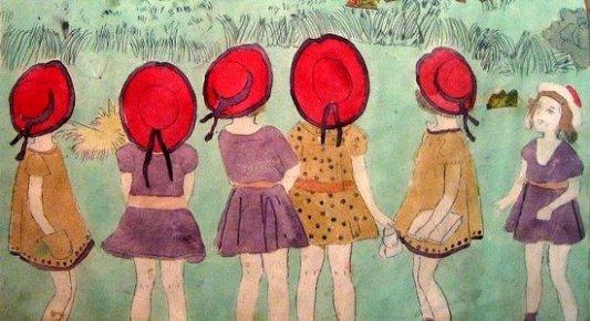 Imagen de Las chicas Vivian, de Henry Darger.