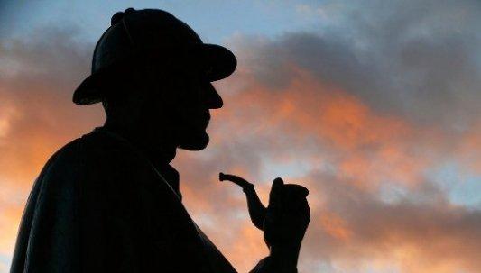 Imagen de la estatua de Sherlock Holmes en Baker Street