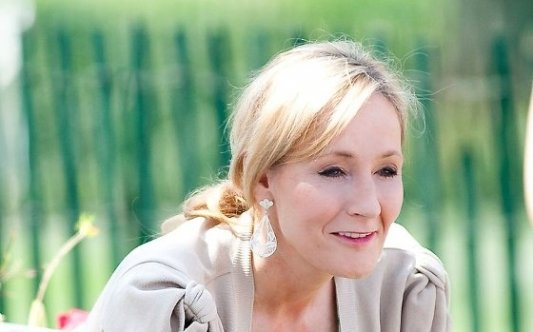 Imagen de la escritora británica J. K. Rowling