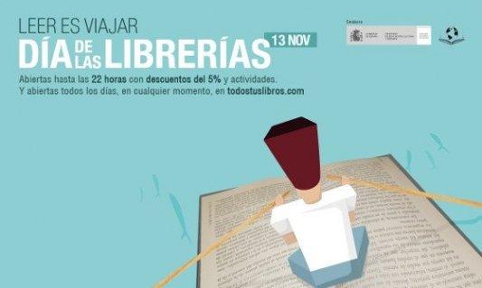 Cartel de la quinta edición del Día de las librerías, 13 de noviembre de 2015