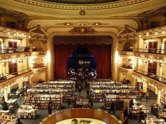 Imagen de la librería Ateneo de Buenos Aires.