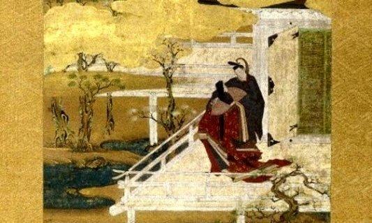 Ilustración del Genji Monogatari datada a finales del siglo XVII.