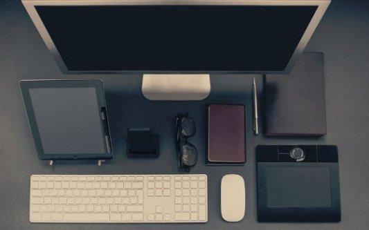 Conjunto de herramientas tecnológicas para la lectura y la escritura.