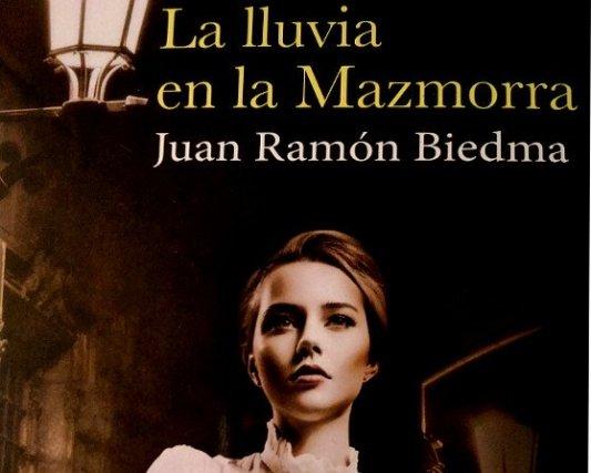 Detalle de la portada del libro La lluvia en la mazmorra, de Juan Ramón Biedma.
