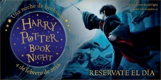 Imagen promocional de la Harry Potter Book Night.