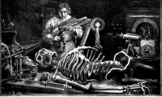 Ilustración para la edición de Frankenstein en el año 1922.