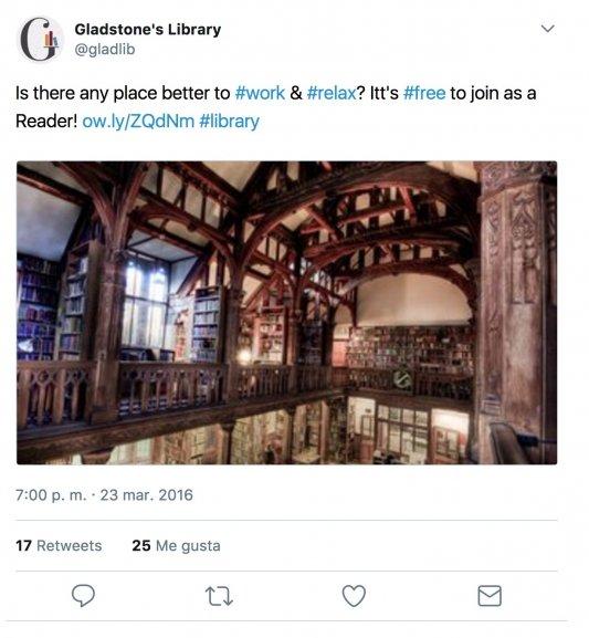 Twitter sobre el Castillo de Gladstone