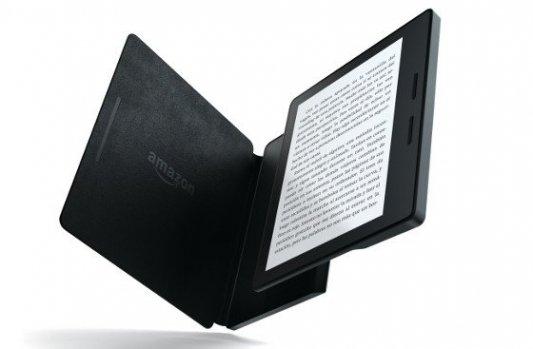 Imagen del nuevo Kindle Oasis con su funda batería.