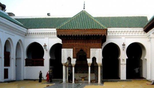 Uno de los patios de la Universidad de Qarawiyyin