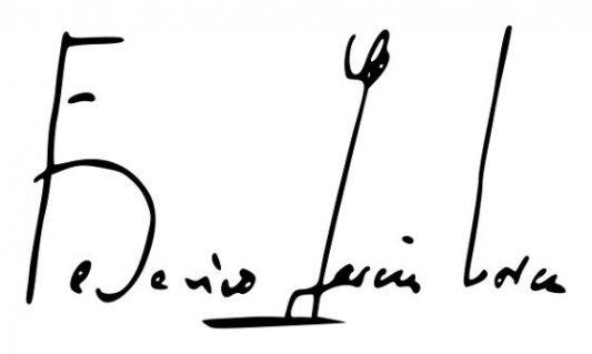 Firma del poeta Federico García Lorca.
