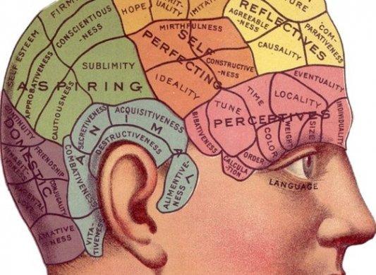 Imagen vintage de un anuncio antiguo sobre el cerebro humano.