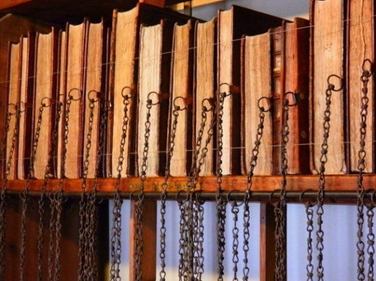 Libros encadenados en la Wimborne Library