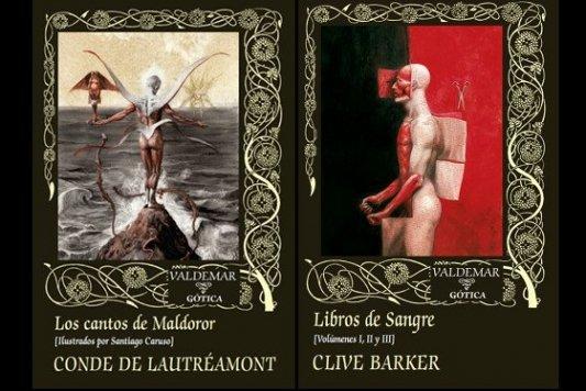 Portadas de los Libros de Sangre y Los cantos de Maldoror.
