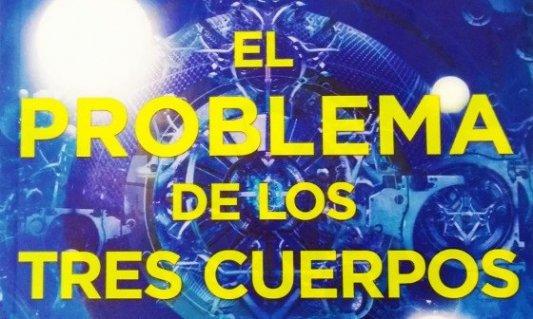 Detalle de la portada de El problema de los tres cuerpos.