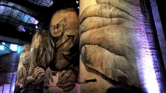 Murales creados por Guido van Helten para la bodega Solar de Samaniego.