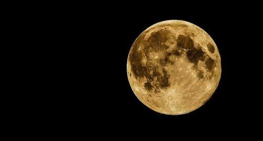 Fotografía astronómica de la Luna.