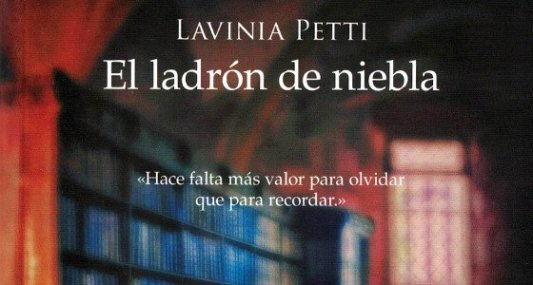 Detalle de la portada de El Ladrón de Niebla.
