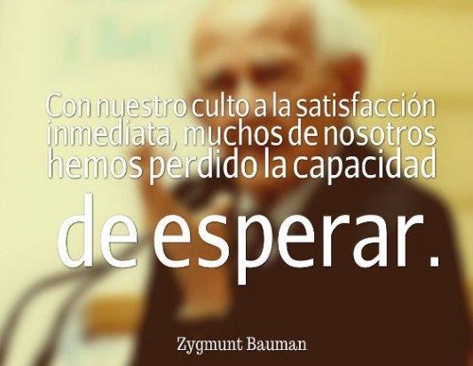 Cita de Zygmunt Bauman.
