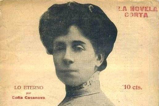 Retrato de Sofía Casanova.