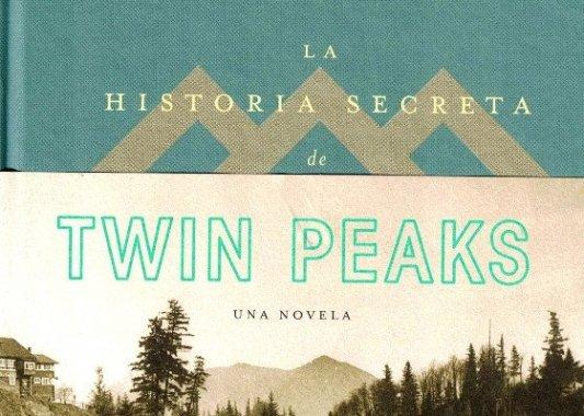 Detalle de la portada del libro La historia secreta de Twin Peaks.