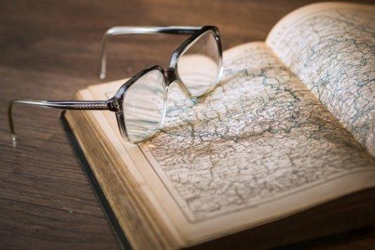 Mapa de rutas de viaje.