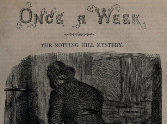 Detalle de la portada de The Notting Hill Mystery.