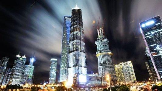 Skyline de Shanghai por la noche.