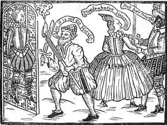 Detalle de la portada de La tragedia española.