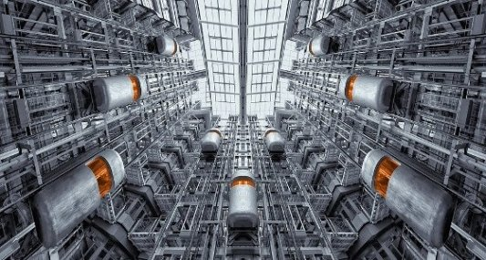 Ascensores futuristas en Berlín.