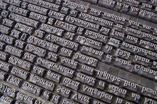 Fuentes tipográficas de metal.