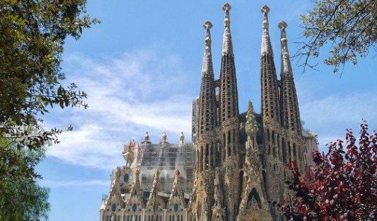 Vista de la Sagrada Familia en Barcelona.