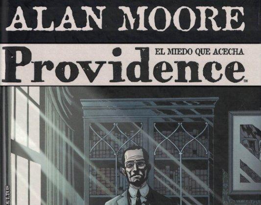 Detalle de la portada de Providence, de Alan Moore.