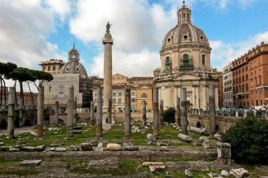 Restos del Foro de Trajano, en Roma.