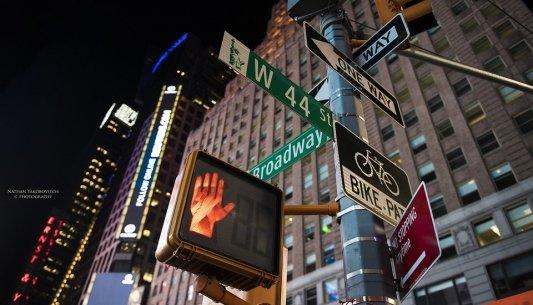 Instantánea nocturna de Nueva York.