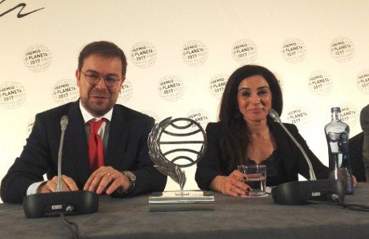 Javier Sierra en la rueda de prensa del Premio Planeta