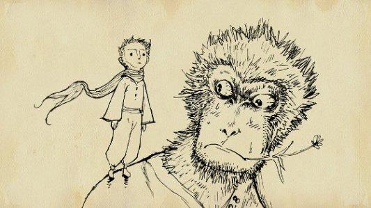 Imagen de El Principito y el Rey Mono.