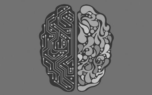 Cerebro artificial, mitad máquina mitad humano.