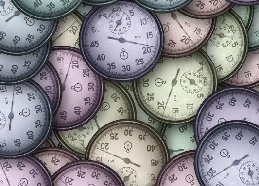 Cronómetros de vaarios colores.