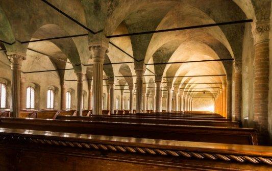 Aula del Nuti en la Biblioteca Malatestiana.