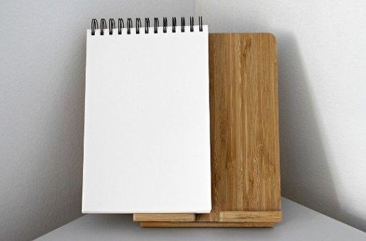 Bloc de notas en blanco.